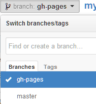 github gh-pages branch